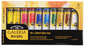 Assorted Colors - Galeria Acrylic Paint 20ml 10/Pkg