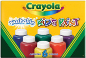 Crayola Washable Kid's Paint 2oz 6/Pkg-