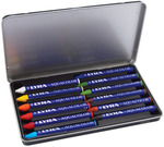 Assorted Colors - Lyra Aquacolor Watersoluble Crayons 12/Pkg