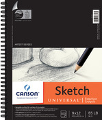 """100 Sheets - Canson Universal Spiral Sketch Book 9""""X12"""""""