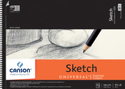 "35 Pages - Canson Universal Spiral Sketch Book 18""X24"""