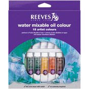 Assorted Colors - Reeves Water Mixable Oil Paint 10ml 18/Pkg