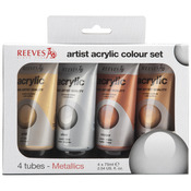 Metallic - Reeves Acrylic Color 75ml 4/Pkg
