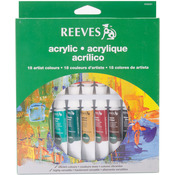 Assorted Colors - Reeves Acrylic Paints 10ml 18/Pkg