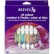 Assorted Colors - Reeves Oil Paint 10ml 18/Pkg