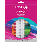 Assorted Colors - Reeves Gouache Watercolor 10ml 24/Pkg