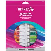 Assorted Colors - Reeves Gouache Watercolor 10ml 24/Pkg