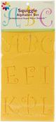 "Squiggle Alphabet 2.5"" - Stencil Mania Stencils 7""X20"" 2/Pkg"