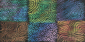 Curves - Artist's Paintstiks Rubbing Plates 6/Pkg