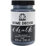 Rich Black - FolkArt Home Decor Chalk Paint 8oz