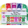 Rainbow - Tulip One-Step Tie-Dye Kit I LOVE TO CREATE: Tulip One-Step Large Tie Dye Kit. You can create and dye up to thirty of your own colorful projects! Just add water, apply dye, wrap, let set for six to eight hours and rinse. This package contains five squeeze bottles containing dye (a total of 1.53oz of dye), five dye packets, eight protective gloves, forty rubber bands and project ideas. Available in a variety of colors, each sold separately. Conforms to ASTM D 4236. Imported.