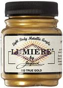 True Gold - Jacquard Lumiere Metallic Acrylic Paint 2.25oz