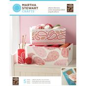 Martha Stewart Adhesive Silkscreen - Floral Paisley 5 Design