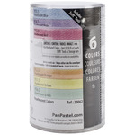 PanPastel Pearlescent Artist Pastels Set 9ml 6/Pkg - Yellow,Green,Orange,Blue,Re