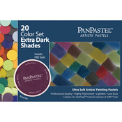 Extra Dark Shades Set - PanPastel Ultra Soft Artist Pastel Set 9ml 20/Pkg