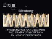 "50 Sheets - Bienfang Calligraphic Practice Paper Pad 9""X12"""
