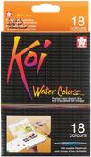 Koi Watercolor Pocket Field Sketch Box, 18 Colors