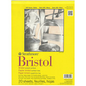 "100lb 20 Sheets - Strathmore Bristol Smooth Paper Pad 9""X12"""