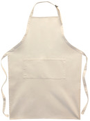 Twill Large Adult 2-Pocket Apron -Natural