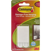 White 4 Sets/Pkg - Command Medium Picture Hanging Strips