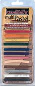 Assorted Colors - Multi Pastel Compressed Chalk Sticks 12/Pkg
