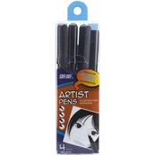 Black - Pro Art Artist Pens 4/Pkg