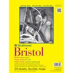 "100lb 20 Sheets - Strathmore Bristol Vellum Paper Pad 9""X12"""