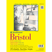 "100lb 20 Sheets - Strathmore Bristol Smooth Paper Pad 14""X17"""