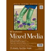 "140lb 15 Sheets - Strathmore Mixed Media Paper Pad 9""X12"""