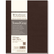 """Gray 80lb 112 Pages - Strathmore Softcover Toned Sketch Journal 7.75""""X9.75"""""""