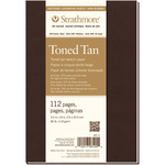 """Tan 80lb 112 Pages - Strathmore Softcover Toned Sketch Journal 5.5""""X8"""""""