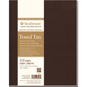 """Tan 80lb 112 Pages - Strathmore Softcover Toned Sketch Journal 7.75""""X9.75"""""""