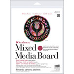 "11""X14"" Strathmore Mixed Media Board 4/Pkg"