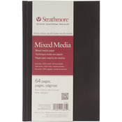 """90lb 64 Pages - Strathmore Mixed Media Art Journal 5.5""""X8.5"""""""