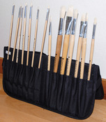 """Black - Just Stow It Zippered Easel Back Brush Case 7.25""""X7.25"""""""