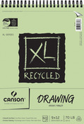 "60 Sheets - Canson XL Recycled Spiral Drawing Paper Pad 9""X12"""
