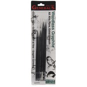 Soft, Medium, Hard - Woodless Graphite Pencils 4/Pkg