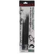 Soft, Medium, Hard - Woodless Graphite Pencils 4/Pkg