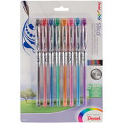 Pentel Slicci Gel Pen Set 8/Pkg, .25mm Assorted