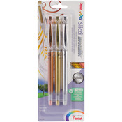 .8mm Gold, Silver And Bronze - Pentel Slicci Metallic Gel Pen Set 3/Pkg