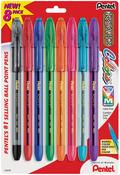 Assorted Colors - Pentel R.S.V.P. Ball Point Pens Medium 8/Pkg