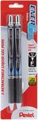 Black - Pentel Energel Retractable Liquid Gel Pens Fine 2/Pkg