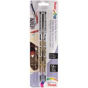 Black - Fabric Gel Roller Pens 2/Pkg