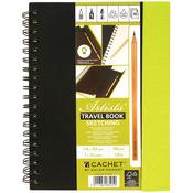 """120lb 40 Sheets - Cachet Travel Sketch Book W/Pencil 7""""X10"""""""
