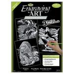 """Foil Engraving Art Kit Value Pack 8.75""""X11.5""""-Silver - Polar Bear/Penguins/Whale"""