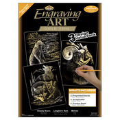 "Gold-Grizzly Bears/Rams/Wolves - Foil Engraving Art Kit Value Pack 8.75""X11.5"""
