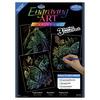 "Rainbow-Fish/Butterflies/Birds - Foil Engraving Art Kit Value Pack 8.75""X11.5"""
