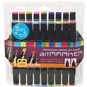Pro Art Graphic Marker Set 18/Pkg-