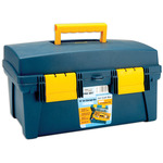 "Blue/Yellow - Pro Art Storage Box With Inner Tray 16""X8.9""X8.6"""