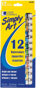 Assorted Colors - Simply Art Watercolor Paint 12ml 12/Pkg